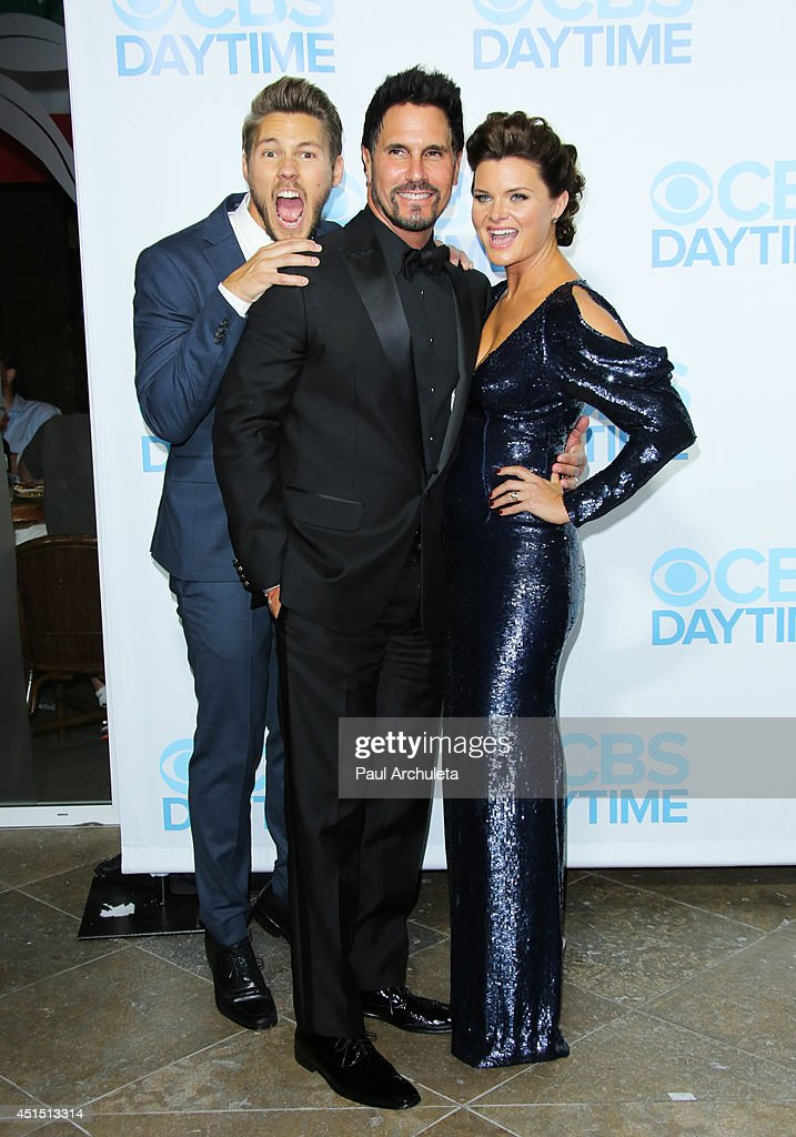 Actors Scott Clifton, Don Diamont and Heather Tom attend the 41st Annual Daytime Emmy Awards CBS after party at The Beverly Hilton Hotel on June 22, 2014 in Beverly Hills, California.