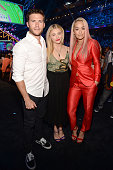 Actors Scott Eastwood Chloe Grace Moretz and singer Rita Ora attend the Teen Choice Awards 2015 at the USC Galen Center on August 16 2015 in Los...