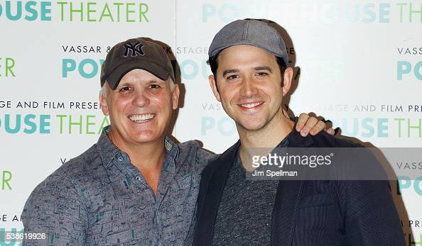 Actors Scott Ellis and Santino Fontana attend the 2016 Powerhouse Theatre season meet greet at Playwrights Horizons on June 7 2016 in New York City