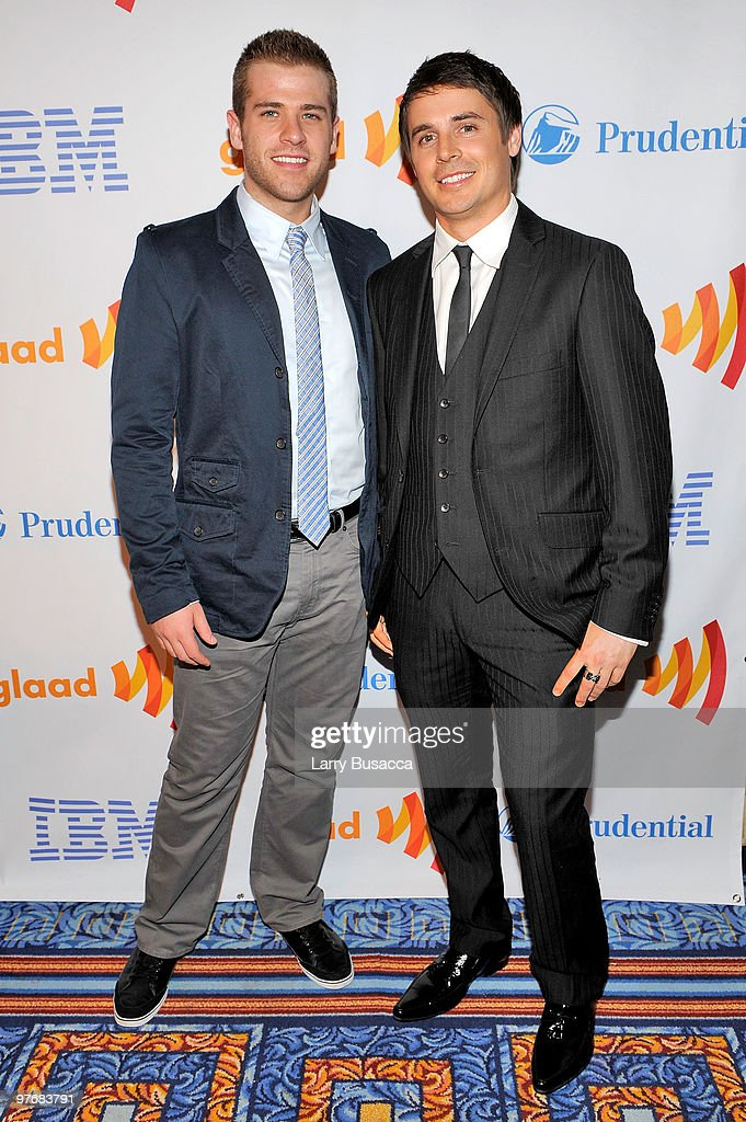Actors Scott Evans and Brett Claywell attend the 21st Annual GLAAD Media Awards at The New York Marriott Marquis on March 13 2010 in New York New York