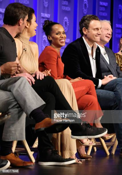 Actors Scott Foley Bellamy Young Kerry Washington Tony Goldwyn Jeff Perry on stage for the 'Scandal' panel The Paley Center For Media's 34th Annual...