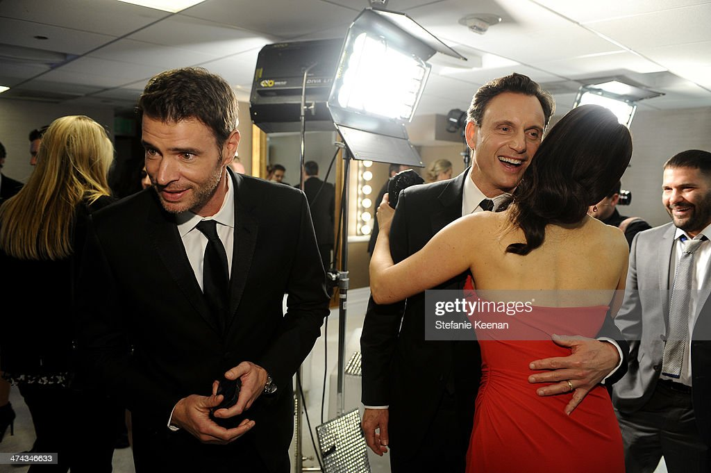 Actors Scott Foley, Tony Goldwyn, Bellamy Young and Guillermo Diaz attend the 16th Costume Designers Guild Awards with presenting sponsor Lacoste at The Beverly Hilton Hotel on February 22, 2014 in Beverly Hills, California.