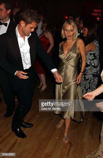 Actors Scott Maslen and Lisa Maxwell dance as they attend the aftershow party following The Pioneer British Academy Television Awards at Grosvenor...
