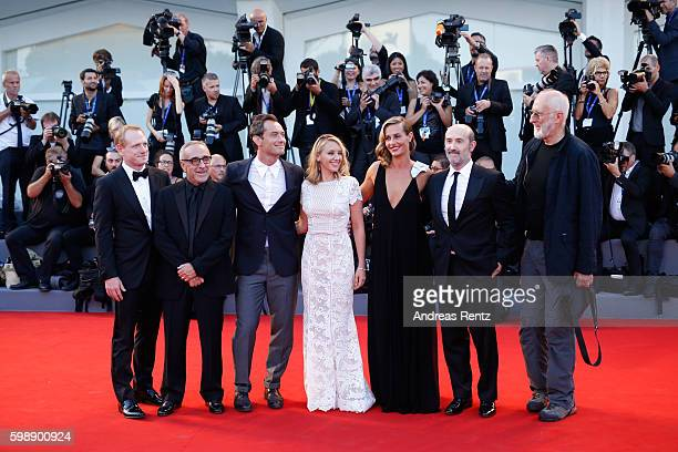 Actors Scott Shepherd Silvio Orlando Jude Law Ludivine Sagnier Cecile De France Javier Camara and James Cromwell attend the premiere of 'The Young...