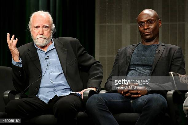 Actors Scott Wilson and Lance Reddick speak onstage at the 'Bosch' panel during the Amazon Prime Instant Video portion of the 2014 Summer Television...