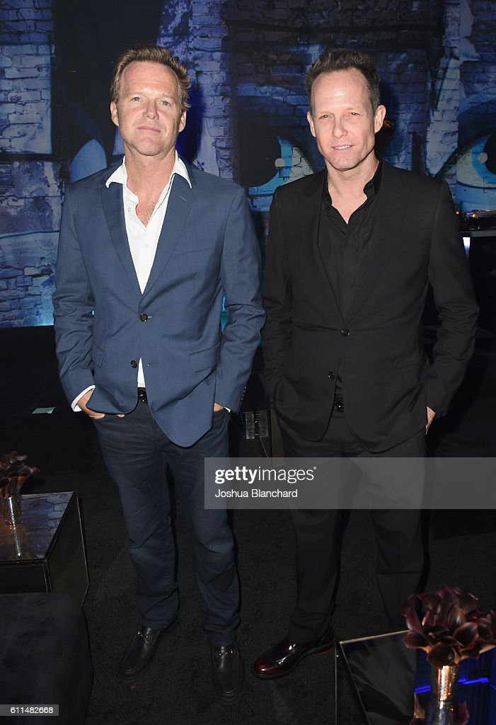 Actors Scott Winters and Dean Winters attend EPIX 'Berlin Station' LA premiere at Milk Studios on September 29, 2016 in Los Angeles, California.