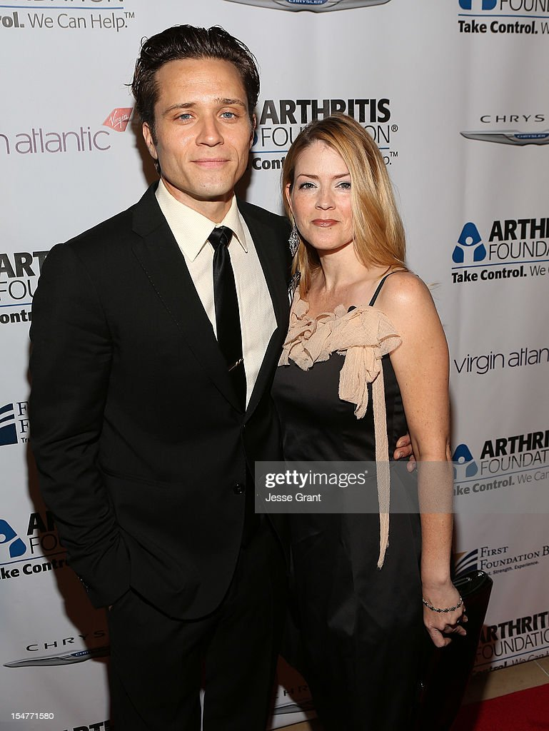 Actors <a gi-track='captionPersonalityLinkClicked' href=/galleries/search?phrase=Seamus+Dever&family=editorial&specificpeople=5714222 ng-click='$event.stopPropagation()'>Seamus Dever</a> and Juliana Dever attend the Arthritis Foundation 'Commitment to a Cure' 2012 Awards Gala at The Beverly Hilton Hotel on October 25, 2012 in Beverly Hills, California.