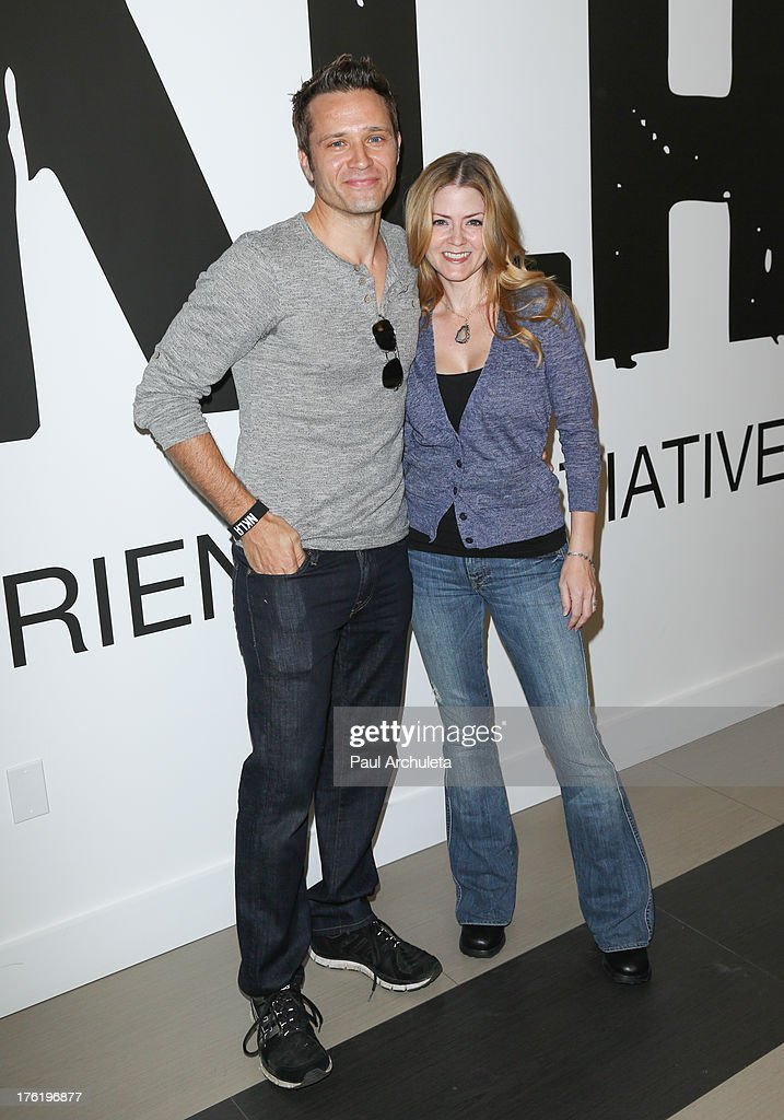 Actors <a gi-track='captionPersonalityLinkClicked' href=/galleries/search?phrase=Seamus+Dever&family=editorial&specificpeople=5714222 ng-click='$event.stopPropagation()'>Seamus Dever</a> (L) and Juliana Dever (R) attends the NKLA Pet Adoption Center ribbon cutting and celebrity/donor brunch at NKLA Pet Adoption Center on August 11, 2013 in Los Angeles, California.