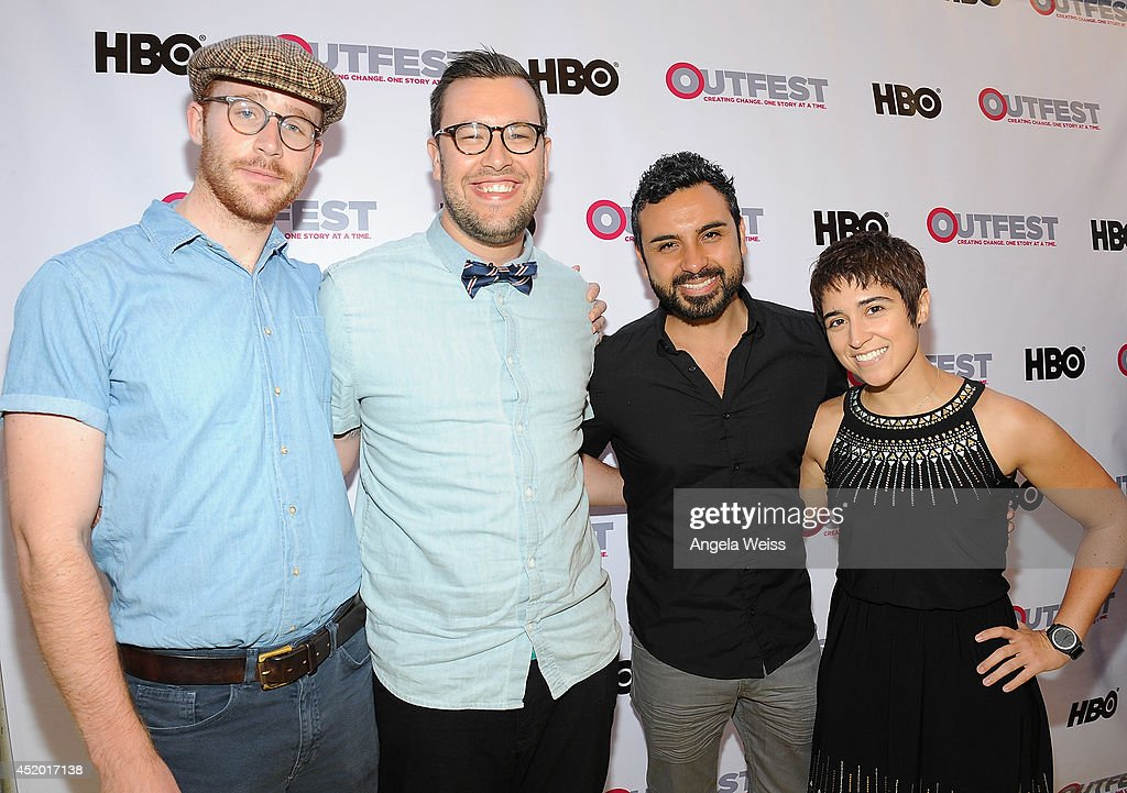 Actors Sean Balas, Ryan Balas, Daniel Armando and Melissa Navia attend the 2014 Outfest opening night gala of 'Life Partners' at Orpheum Theatre on July 10, 2014 in Los Angeles, California.