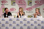 Actors Sean Bean Ali Larter and Tina Majorino attend the 'Legends' 2014 TNT Wondercon Panel at the Anaheim Convention Center on April 19 2014 in...