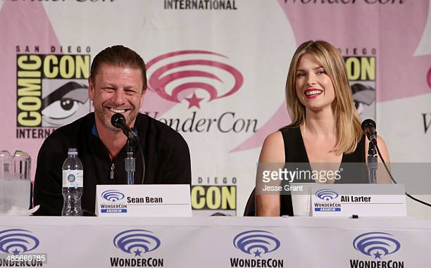 Actors Sean Bean and Ali Larter attend the 'Legends' 2014 TNT Wondercon Panel at the Anaheim Convention Center on April 19 2014 in Anaheim California