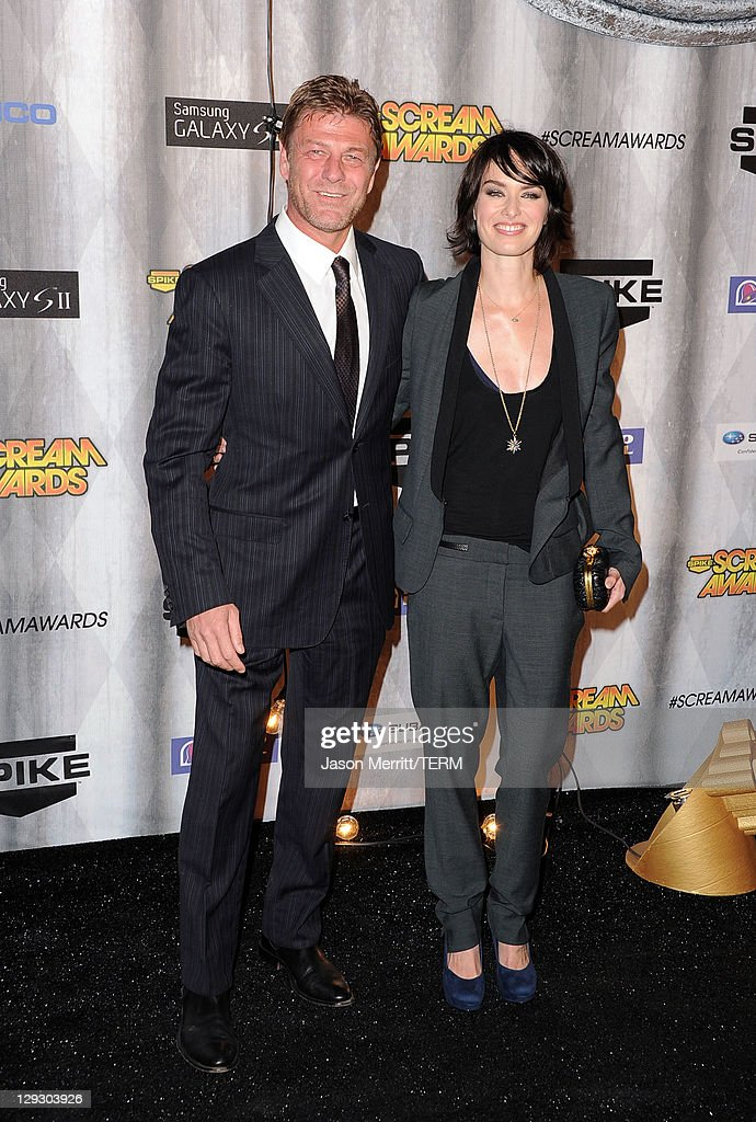 Actors Sean Bean and Lena Headey arrive at Spike TV's 'SCREAM 2011' awards held at Universal Studios on October 15 2011 in Universal City California