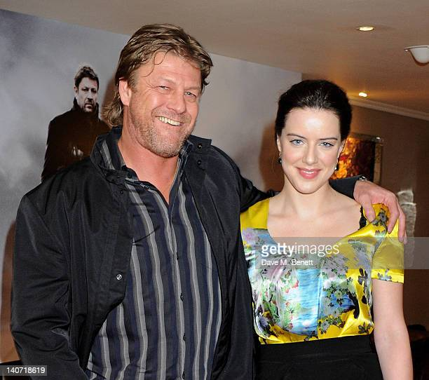 Actors Sean Bean and Michelle Ryan arrive at a special screening of 'Cleanskin' at The Mayfair Hotel on March 5 2012 in London England