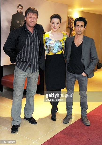 Actors Sean Bean Michelle Ryan and Abhin Galeya arrive at a special screening of 'Cleanskin' at The Mayfair Hotel on March 5 2012 in London England