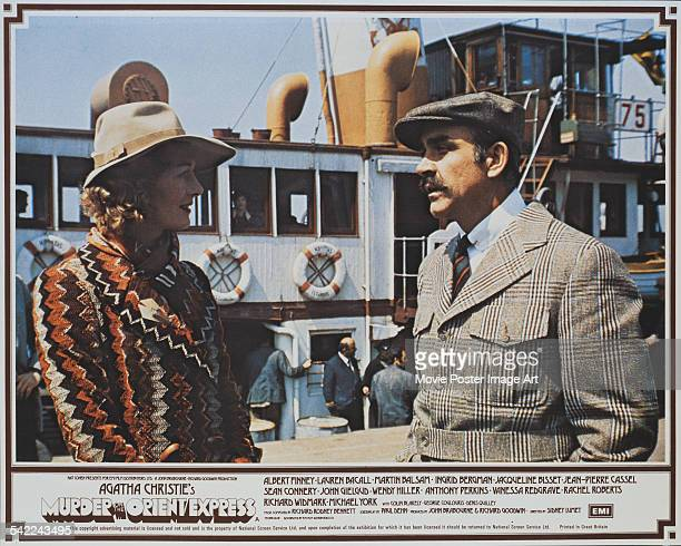 Actors Sean Connery and Vanessa Redgrave appear on the poster for the film 'Murder On The Orient Express' based on the novel by Agatha Christie 1974