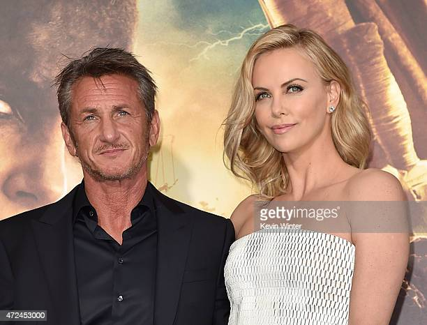 Actors Sean Penn and Charlize Theron attend the premiere of Warner Bros Pictures' 'Mad Max Fury Road' at TCL Chinese Theatre on May 7 2015 in...