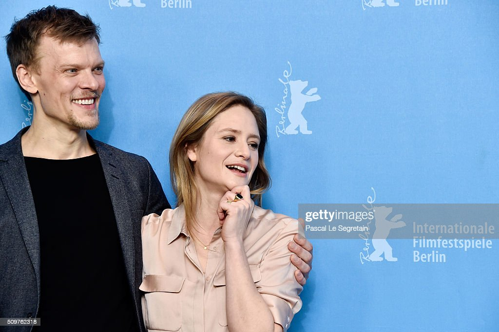 Actors Sebastian Huelk and <a gi-track='captionPersonalityLinkClicked' href=/galleries/search?phrase=Julia+Jentsch&family=editorial&specificpeople=217557 ng-click='$event.stopPropagation()'>Julia Jentsch</a> attend the 'All Of A Sudden' photo call during the 66th Berlinale International Film Festival Berlin at Grand Hyatt Hotel on February 12, 2016 in Berlin, Germany.