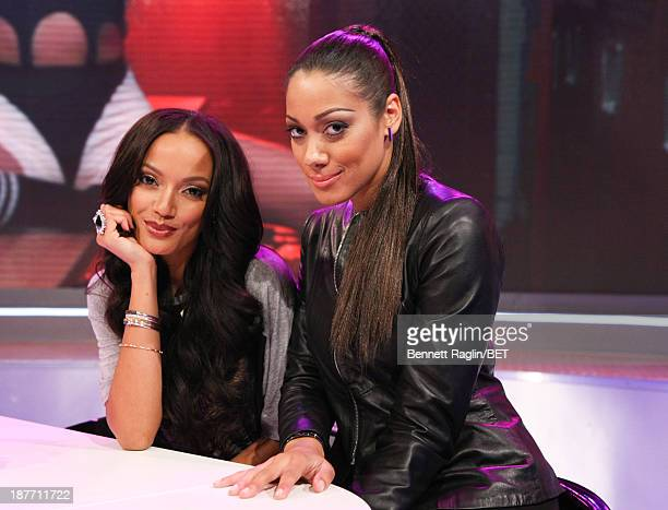 Actors Selita Ebanks and Cynthia Kaye McWilliams visit 106 Park at 106 Park studio on November 11 2013 in New York City