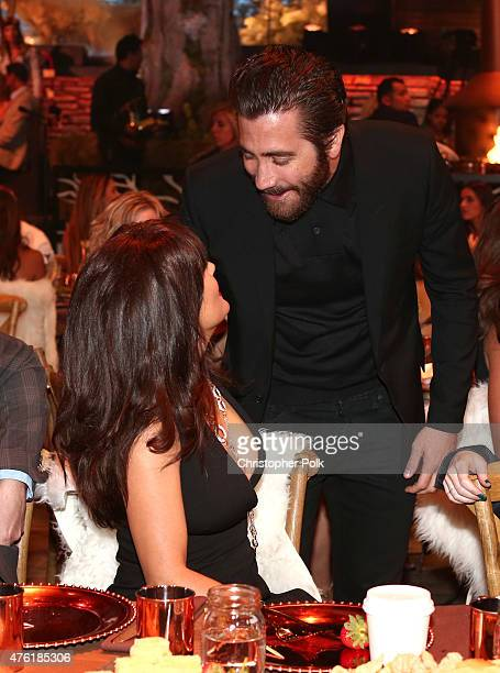 Actors Selma Hayek and Jake Gyllenhaal attend Spike TV's Guys Choice 2015 at Sony Pictures Studios on June 6 2015 in Culver City California