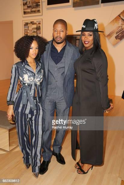 Actors Serayah McNeill Morocco Omari and Ta'Rhonda Jones attend MOCA's Leadership Circle and Members' Opening of Kerry aJames Marshall Mastry at MOCA...