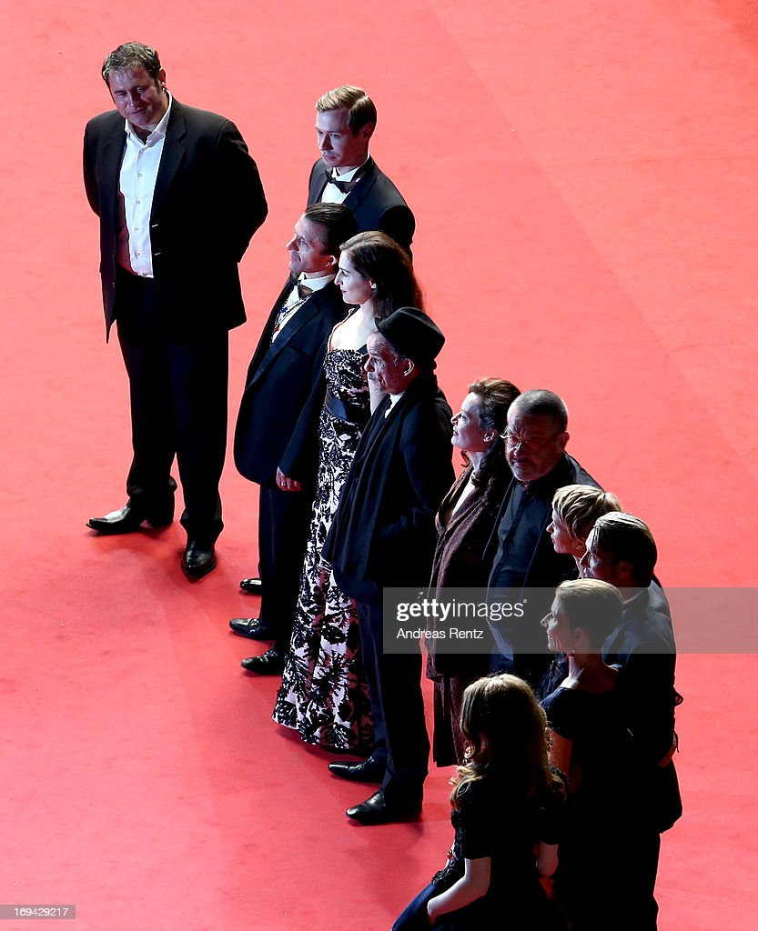 Actors Sergi Lopez, Roxane Duran, guest, Amira Casar, guest, director Arnaud des Pallieres, actors Denis Lavant, Delphine Chuillot, Melusine Mayance, David Kross, Hanne Jacobsen and Mads Mikkelsen attend the 'Michael Kohlhaas' premiere during The 66th Annual Cannes Film Festival at the Palais des Festival on May 24, 2013 in Cannes, France.