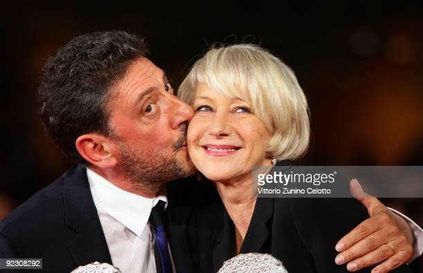 Actors Sergio Castellitto and Helen Mirren attends the Official Awards Photocall on Day 9 of the 4th International Rome Film Festival held at the...