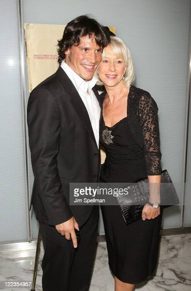 Actors Sergio Peris Mancheta And Helen Mirren Attend The Love Ranch Premiere At The Dolby Screening Room On June 29 2010 In New York City