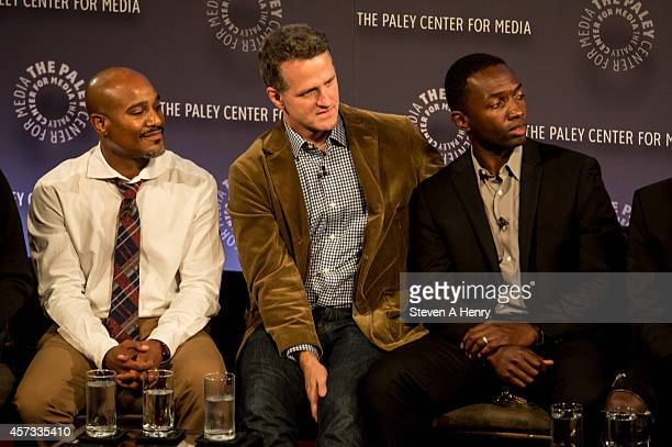Actors Seth Gilliam Jim TrueFrost and Jamie Hector at Paley Center For Media on October 16 2014 in New York New York