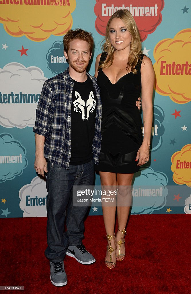 Actors Seth Green and Clare Grant attend Entertainment Weekly's Annual ComicCon Celebration at Float at Hard Rock Hotel San Diego on July 20 2013 in...