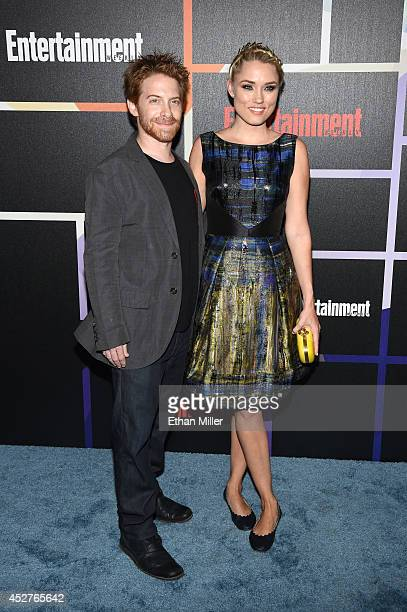 Actors Seth Green and Clare Grant attend Entertainment Weekly's annual ComicCon celebration at Float at Hard Rock Hotel San Diego on July 26 2014 in...