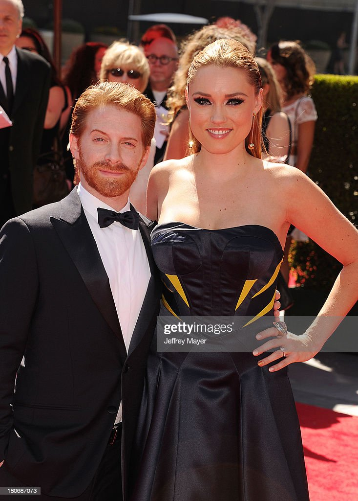 Actors Seth Green and Clare Grant attend the 2013 Creative Arts Emmy Awards at Nokia Theatre L.A. Live on September 15, 2013 in Los Angeles, California.