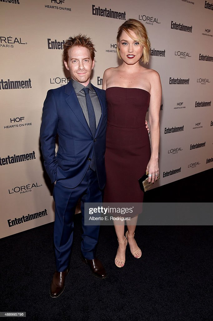 Actors Seth Green and Clare Grant attend the 2015 Entertainment Weekly PreEmmy Party at Fig Olive Melrose Place on September 18 2015 in West...