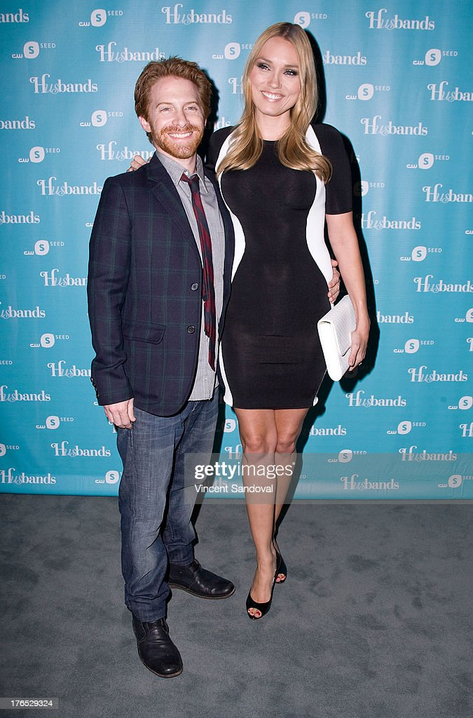 Actors Seth Green and Clare Grant attend the CWSeed 'Husbands' premiere at The Paley Center for Media on August 14, 2013 in Beverly Hills, California.