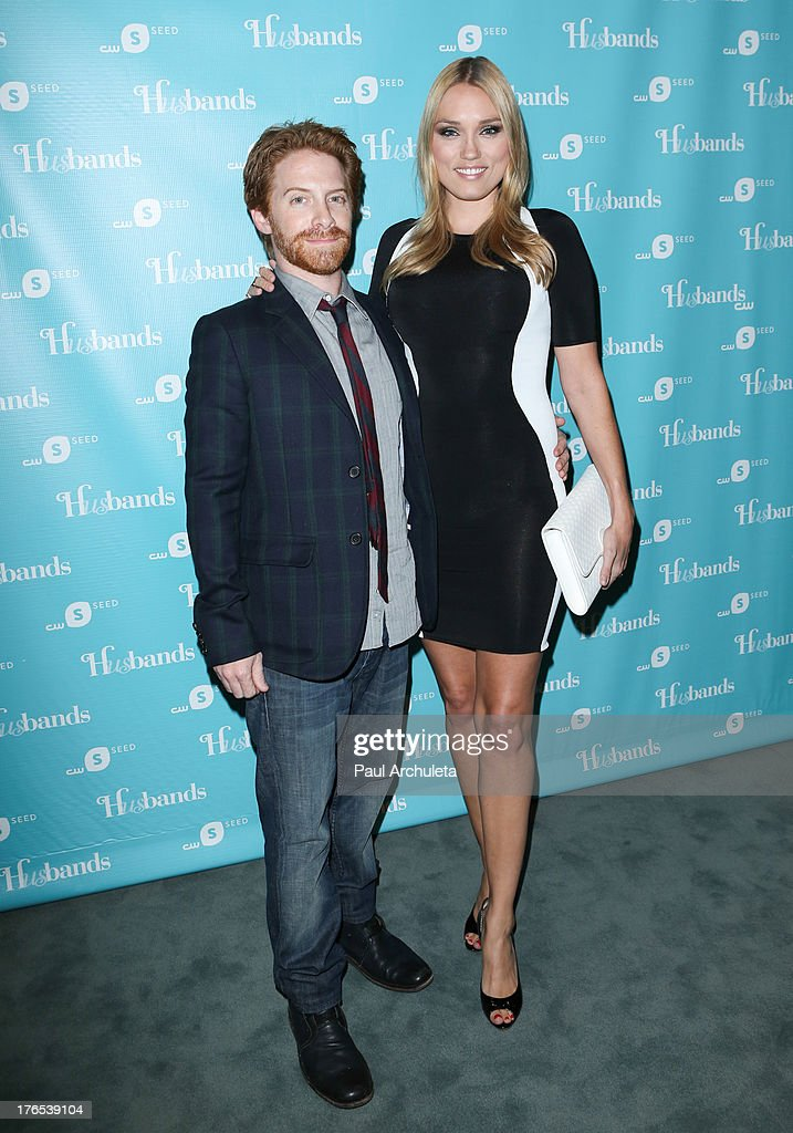 Actors Seth Green (L) and his wife Clare Grant (R) attend the premiere of 'Husbands' at The Paley Center for Media on August 14, 2013 in Beverly Hills, California.