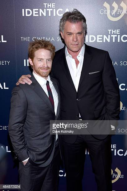 Actors Seth Green and Ray Liotta attend City of Peace Films and The Cinema Society host the world premiere of 'The Identical' at SVA Theater on...