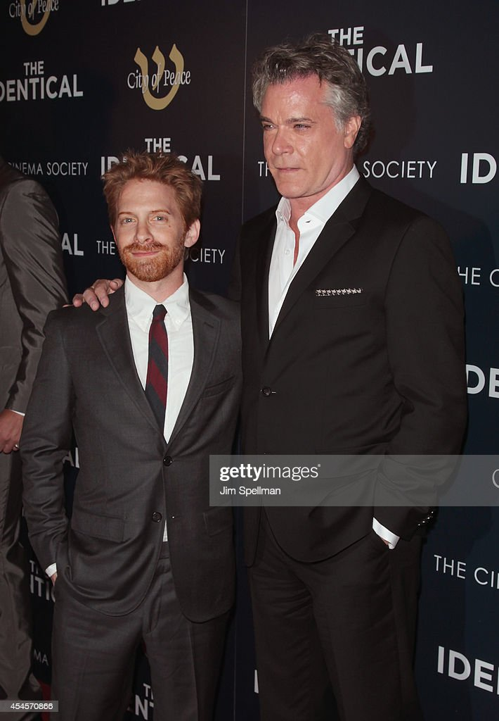 Actors Seth Green and Ray Liotta attend the City Of Peace Films With The Cinema Society Premiere Of 'The Identical' at SVA Theater on September 3...