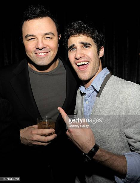 Actors Seth MacFarlane and Darren Criss attend Seth MacFarlane And Twentieth Century Fox Home Entertainment's celebration of the launch of 'Family...