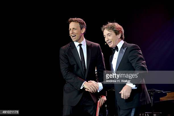 Actors Seth Meyers and Martin Short perform at the 2014 Toys 'R' Us Children's Fund Gala at the New York Marriott Marquis on May 15 2014 in New York...