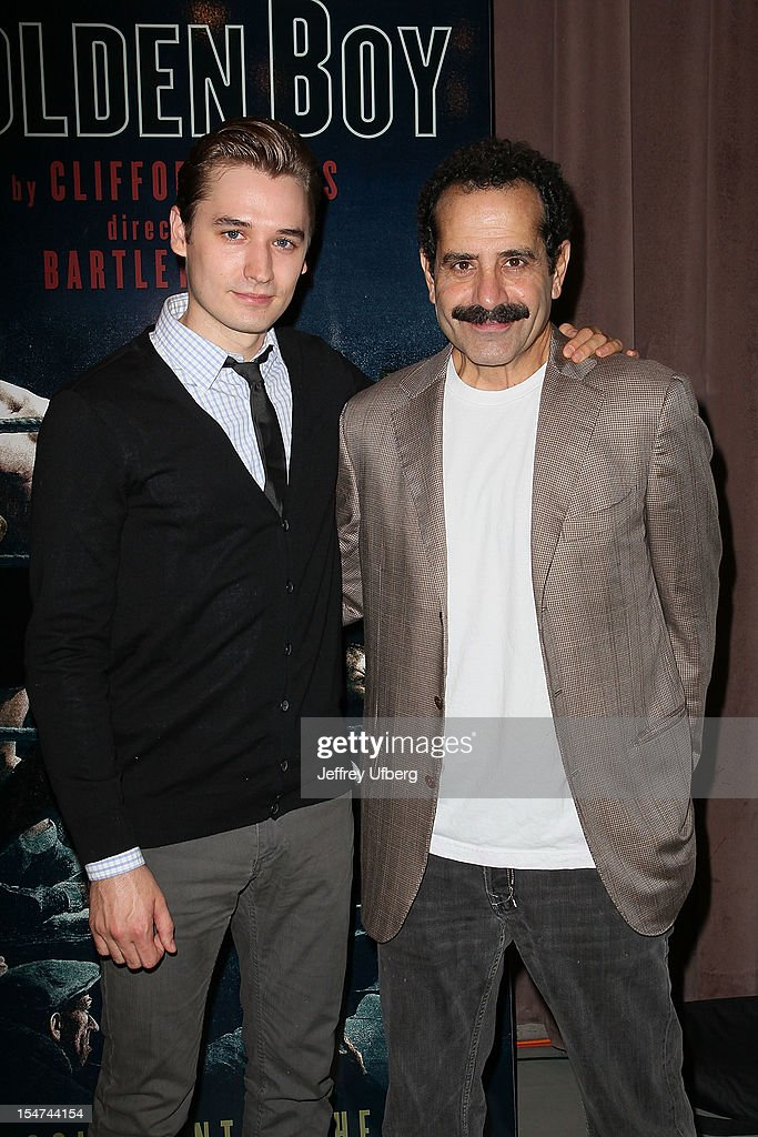 Actors Seth Numrich and <a gi-track='captionPersonalityLinkClicked' href=/galleries/search?phrase=Tony+Shalhoub&family=editorial&specificpeople=203214 ng-click='$event.stopPropagation()'>Tony Shalhoub</a> attend the 'Golden Boy' Cast Meet & Greet at the Lincoln Center Theater on October 25, 2012 in New York City.