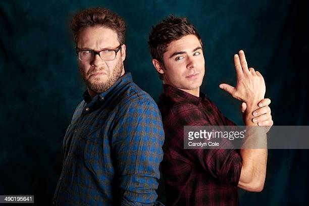 Actors Seth Rogen Zac Efron are photographed for Los Angeles Times on May 2 2014 in New York City PUBLISHED IMAGE CREDIT MUST BE Carolyn Cole/Los...