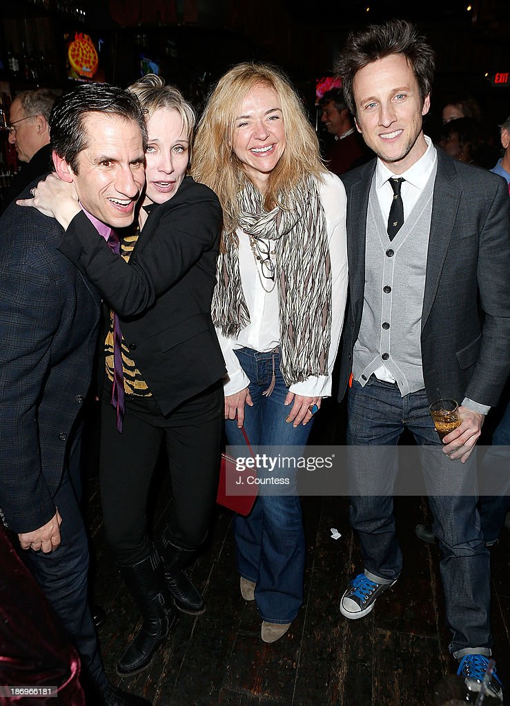 Actors Seth Rudetsky Charlotte d'Amboise Rachel Bay Jones and director Jack Plotnick attend the After Party for the Off Broadway Opening Night of...