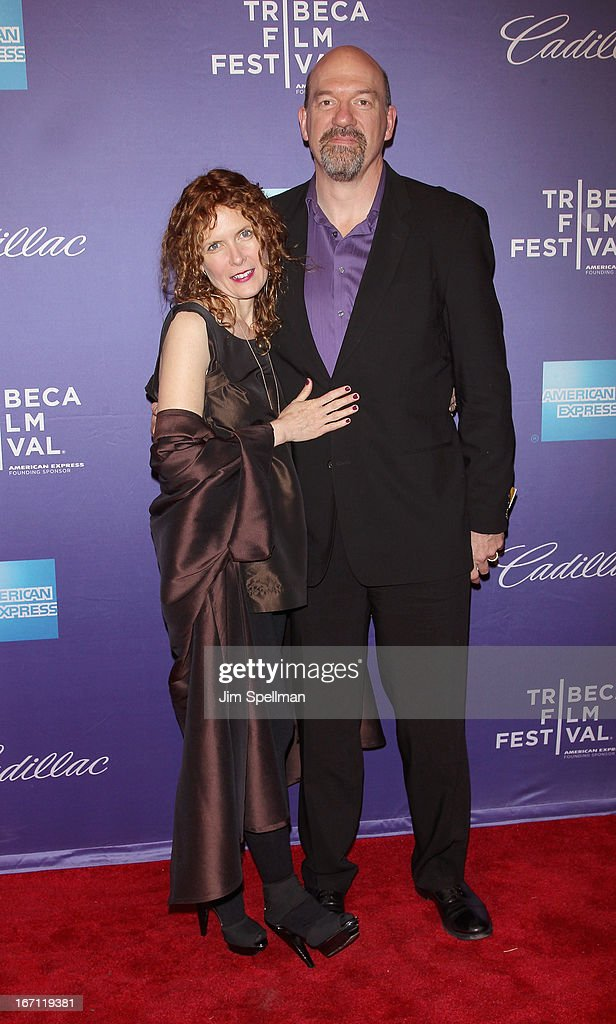 Actors Shae D'Lyn and John Carroll Lynch attend the screening of 'The Pretty One' during the 2013 Tribeca Film Festival at SVA Theater on April 20, 2013 in New York City.