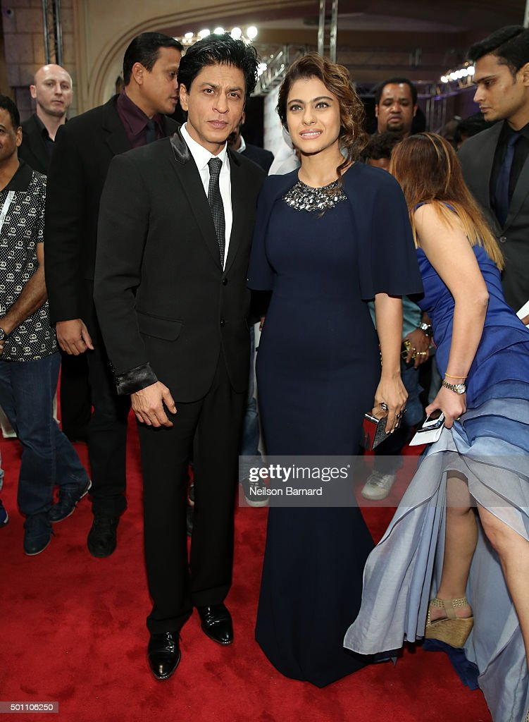Actors Shah Rukh Khan and Kajol Devgan attend 'The Clan' premiere during day four of the 12th annual Dubai International Film Festival held at the Madinat Jumeriah Complex on December 12, 2015 in Dubai, United Arab Emirates.