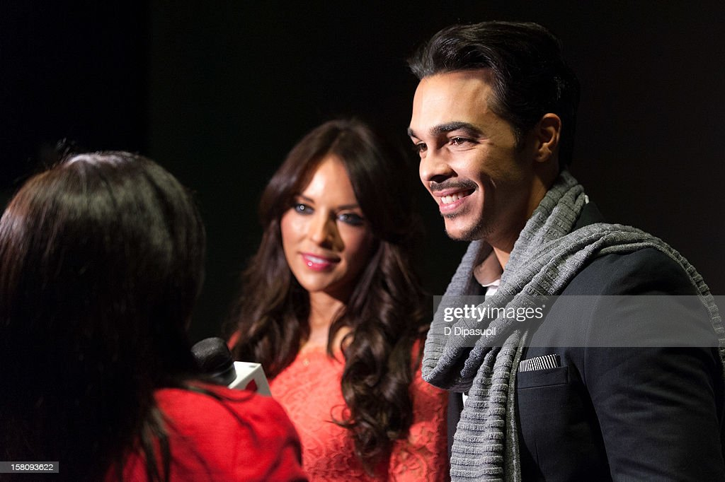 Actors Shalim and Vanessa Villela attend the NASDAQ Opening Bell Ceremony celebrating Telemundo Media's new brand campaign at NASDAQ MarketSite on December 10, 2012 in New York City.