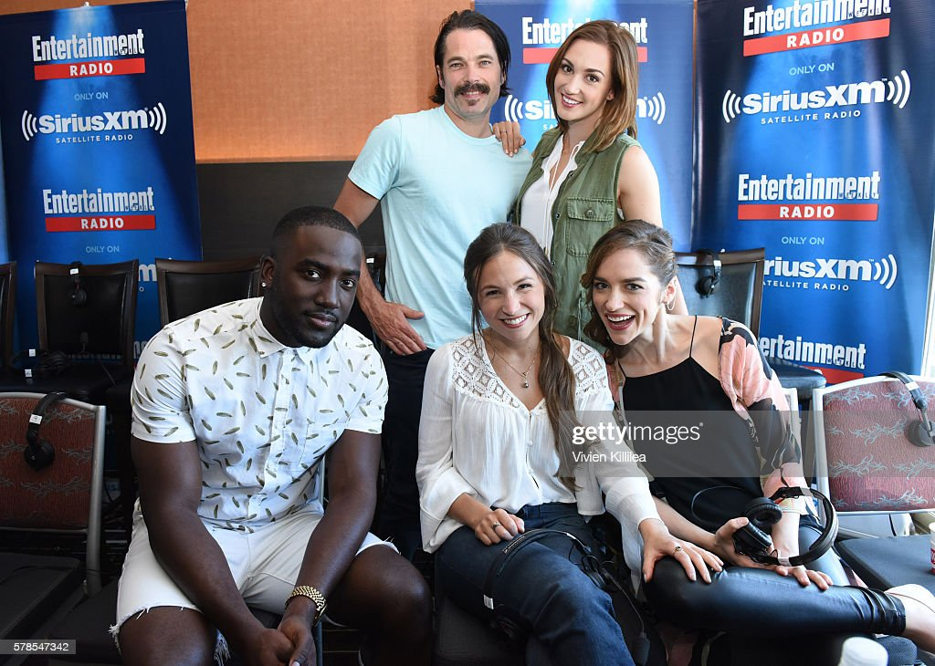 Actors Shamier Anderson and Michael Eklund and actresses Katherine Barrell, Dominique Provost-Chalkley and Melanie Scrofano attend SiriusXM's Entertainment Weekly Radio Channel Broadcasts From Comic-Con 2016 at Hard Rock Hotel San Diego on July 21, 2016 in San Diego, California.