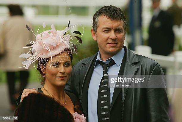 Actors Shane Richie and Jessie Wallace are seen during the filming of an episode of 'EastEnders' at Windsor Racecourse on October 3 2005 in Windsor...