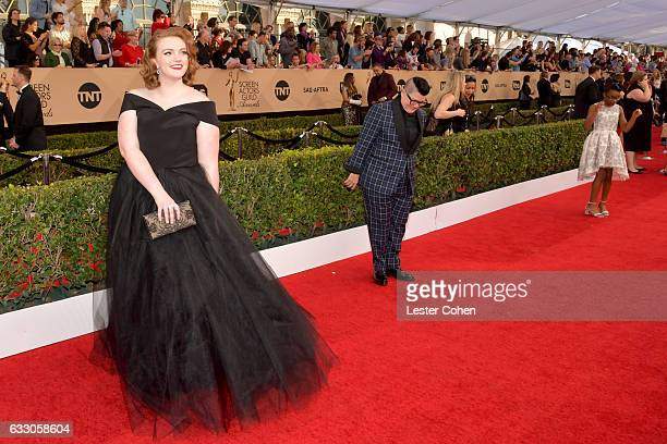 Actors Shannon Purser Lea DeLaria and Marsai Martin attend the 23rd Annual Screen Actors Guild Awards at The Shrine Expo Hall on January 29 2017 in...