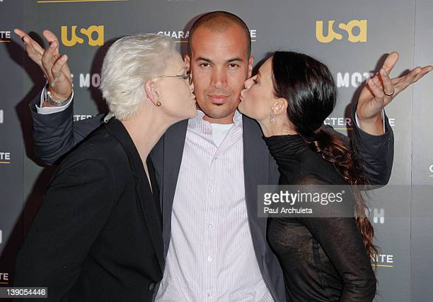 Actors Sharon Gless Coby Bell and Gabrielle Anwar attend the USA Network and The Moth presentation of 'A More Perfect Union Stories Of Prejudice And...