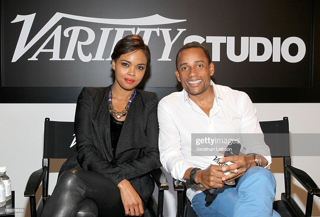 Actors Sharon Leal and Hill Harper attend Variety Studio Presented by Moroccanoil at Holt Renfrew during the 2013 Toronto International Film Festival...