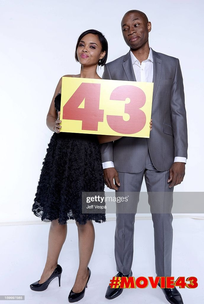 Actors Sharon Leal and Robbie Jones pose for a portrait during Relativity Media's 'Movie 43' Los Angeles premiere at TCL Chinese Theatre on January 23, 2013 in Hollywood, California.
